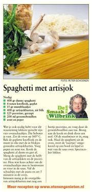 spaghetti met artisjokken